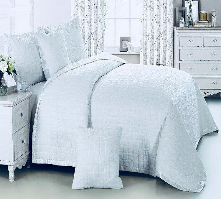 3pc Embroidered Super King Size Quilted, What Size Is A Super King Bedspread