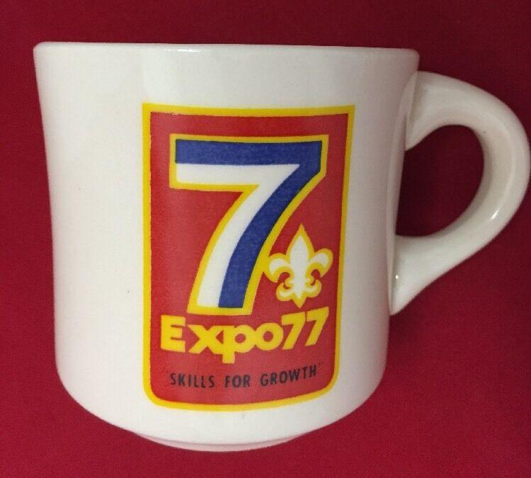 Vintage 1977 Boy Scouts (BSA) Mug Expo 77 Coffee Cup