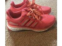 Pink ladies Adidas Boost trainers size 5