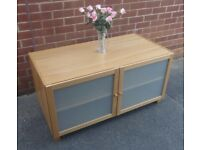 Oak Effect Entertainment Cabinet / Sideboard
