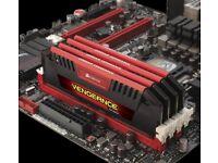 Corsair Memory Vengeance Pro Series Red 32GB (4x8GB) DDR3 2400 MHz