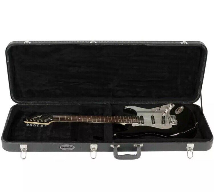 """Electric Guitar Hard Carrying Case Locking Latch 41"""" Padded Stratocaster Fender"""