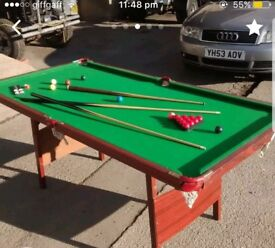 6ft snooker table