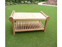 Lutyens teak garden or conservatory drinks/ occasional table