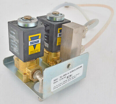 Lot 2x Sirai L255v04 Z510a 40-bar Direct Acting Dual Solenoid Valve Assembly