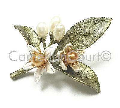 Orange Blossom Lapel Tack Pin by Michael Michaud, Silver Seasons #5950