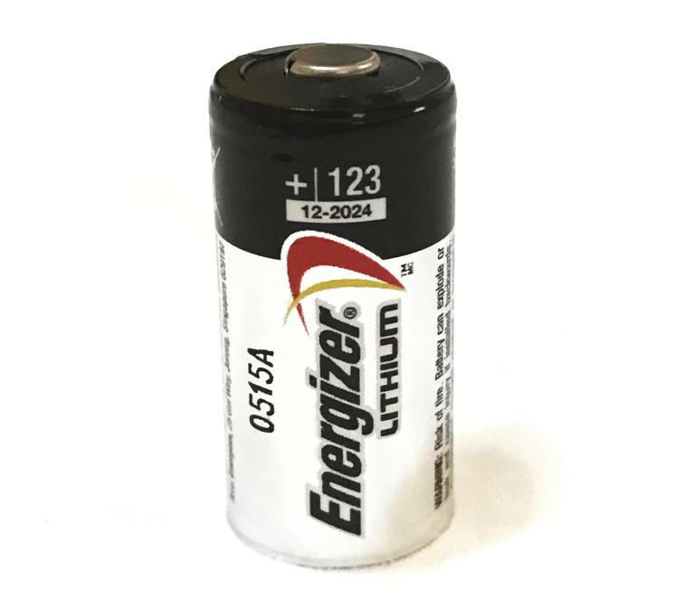 1 ONE CR123 Energizer 3V Lithium Batteries CR123A, 123, EL12