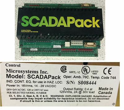 Control Microsystems Scadapack Processor Cpu Board 5204 Relay Board 5601