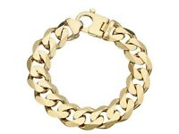 3oz Solid Gold Curb Bracelet 9ct Gold x