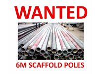 6 METER (20 FOOT) SCAFFOLD TUBES POLES OR SIMILAR WANTED