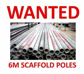 6 METER (20 FOOT) SCAFFOLD TUBES POLES OR SIMILAR - WANTED