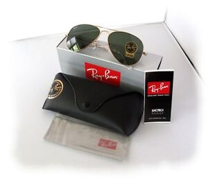 New-Mens-Sunglasses-Ray-Ban-RB3025-58mm-Aviator-Gold