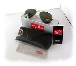 New-Mens-Sunglasses-Ray-Ban-RB3025-58mm-Aviator-Gold