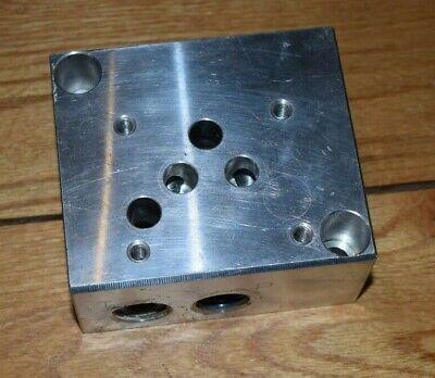 Hydraulic Valve Subplate Daman D05 Ad05 12 Npt Parker Rexroth