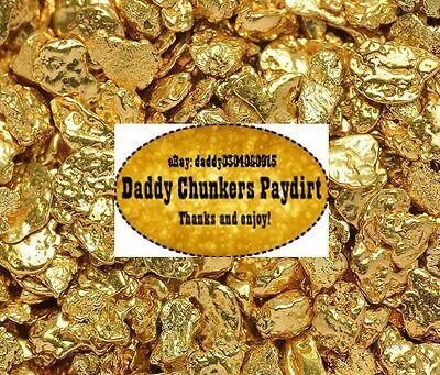 1 LB of gold paydirt! GUARANTEED CLEAN NATURAL ALASKA GOLD!