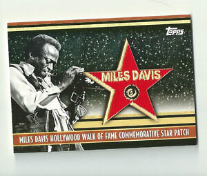 2011 Topps American Pie Miles Davis Hollywood Walk of Fame Patch 49/50