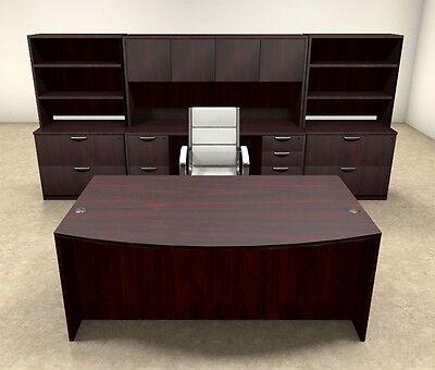 10pc Fan Front Modern Executive Office Desk Set Ot-sul-d11