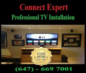 PROFESSIONAL TV WALL MOUNTING SERVICE @ 647-669-7001