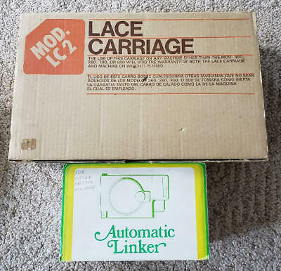 SINGER KNITTING MACHINE LACE KNITTER MOD-LC2 & AUTOMATIC LINKER SC-3 IN BOXES