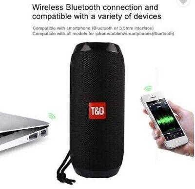 ALTAVOZ ALTAVOCES PORTATIL ESTEREO BT TG117 BLUETOOTH MP3 FM USB NEGRO