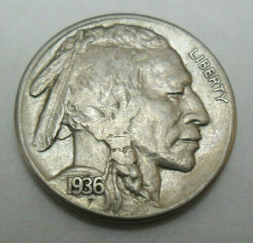 "1936 P INDIAN HEAD ""BUFFALO"" NICKEL  *GOOD OR BETTER*  **FREE SHIPPING**"