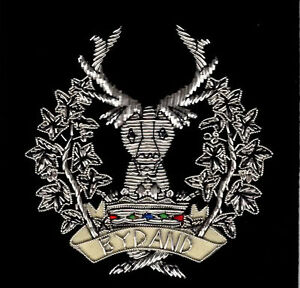 Wire Embroidered Blazer badges for Scottish Army Regiments