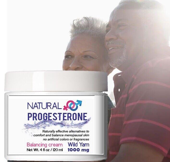 Natural Woman Progesterone Cream 4 oz Wild Yam Menopause Relief 1000 mg usp