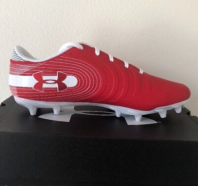 5dcf33387 Under Armour UA Nitro Low MC Men's Football Cleat Red/white 3000182-600  Size11.5