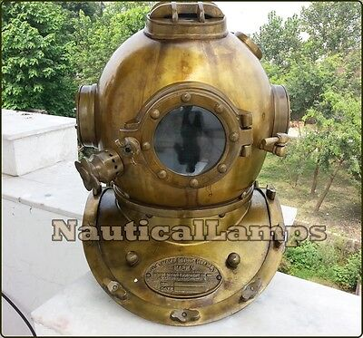 Vintage Dive HELMET Scuba US Navy Mark V Divers Full size Antique Diving Replica