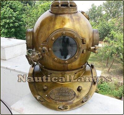 Vintage Dive HELMET Scuba US Navy Mark V Divers Full size Antique Diving Replica