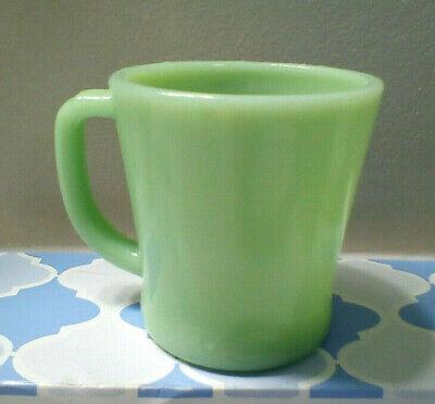 Vintage Fire-King jadeite restaurant oven ware mug cup D handle