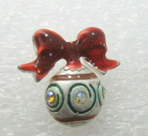 Christmas Ornaments With Ribbon Lapel Pin (A449)