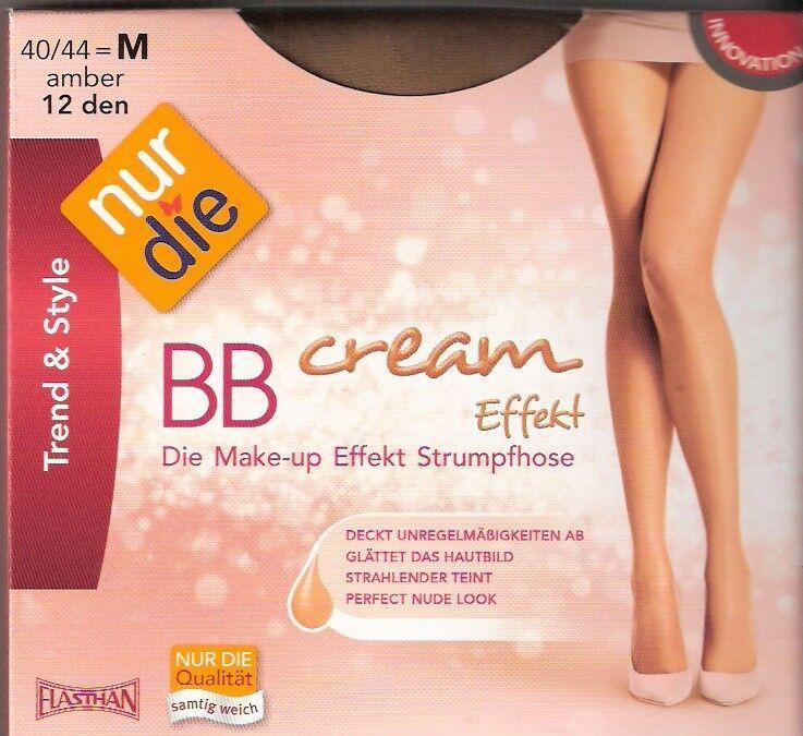NUR DIE - BB Cream Effekt - Strumpfhose Gr. M - L amber, bronze