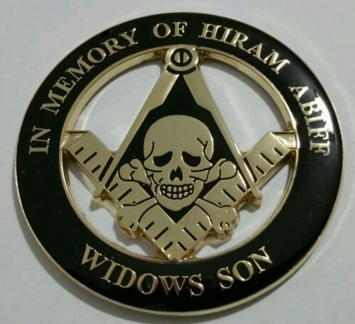 Freemason Masonic Hiram Abiff Widows Son Cut-Out Car Emblem