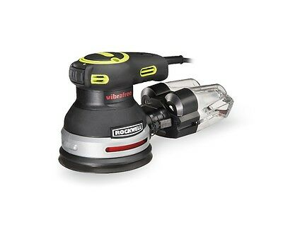 "Rockwell RK4248K 3.3 Amp 5"" Vibrafree Random Orbital Sander with Bag included"