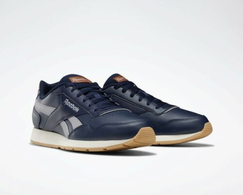 Reebok Royal Glide Navy Gum Leather Mens Trainers Classic Retro NEW DV8783