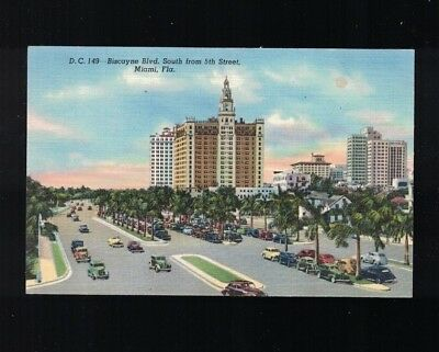 Biscayne Boulevard South From 5th Street Miami Florida 1951 Post Card](Biscayne Boulevard)