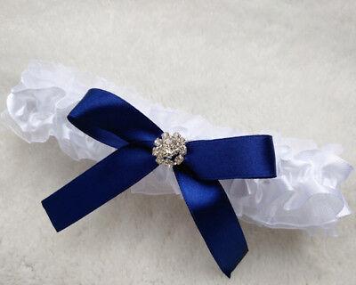 Sexy Strumpfband (Ausgefallen was Blaues SEXY Strumpfband Strass  Spitze Braut Hochzeit Blau)