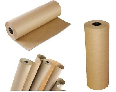 Thick Brown Kraft Wrapping Paper - 500mm x 5M Heavy Duty Postal Rolls - UK Made