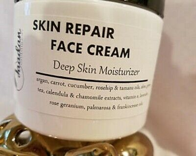 Skin Repair Face Cream, daily skin moisturizer with natural oils and herbs 4oz.