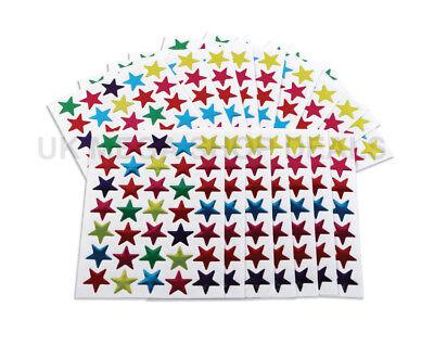 700X Star Shape Stickers For School Children Teacher Reward DIY Craft Hot NEW UK