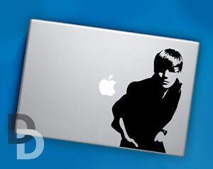 justin bieber macbook decal vinyl laptop sticker celebrity decal. Black Bedroom Furniture Sets. Home Design Ideas