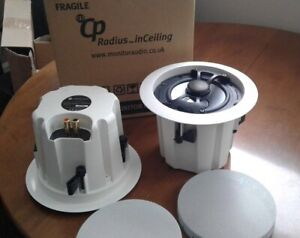 2 Monitor Audio Radius CP In Ceiling Speakers