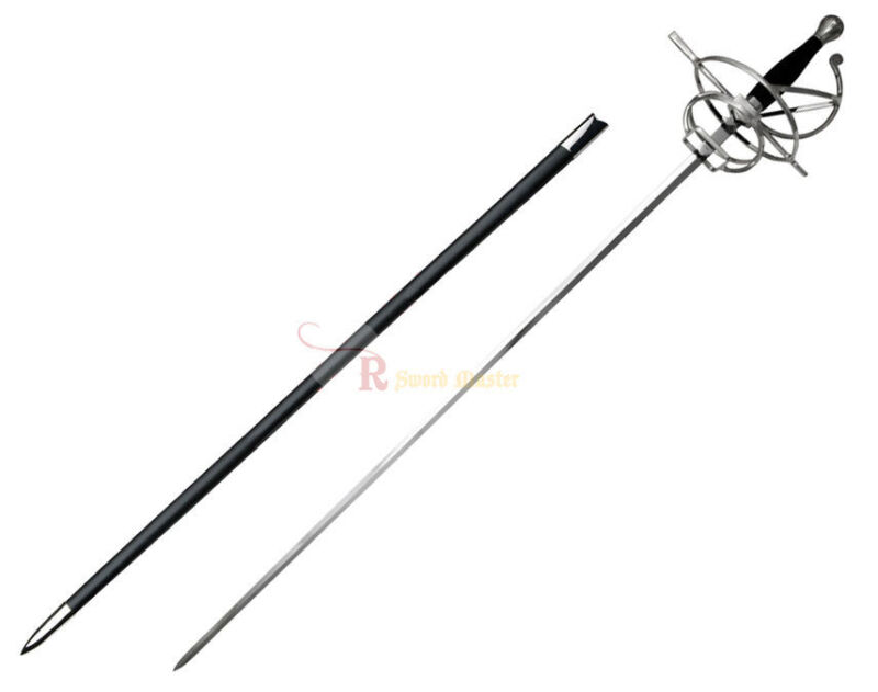 "46"" Renaissance Rapier Fencing Sword with Swept Hilt Guard Brand New"