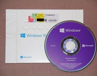 Microsoft Windows 10 Pro Professional 64 bit Full Version DVD & Laptop~~