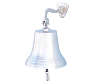 Brushed Nickel Solid Aluminum Ship's Bell 10