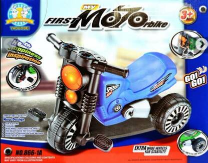 WowMar Pedal Powered Trike Toddler Tricycle Motorbike - 2 colors