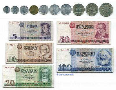 Das letzte DDR-Geld__1 Pfennig bis 100 Mark *** Kompletter Satz !