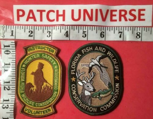 LOT OF TWO DIFFERENT FLORIDA FISH AND WILDLIFE SHOULDER PATCHES P107