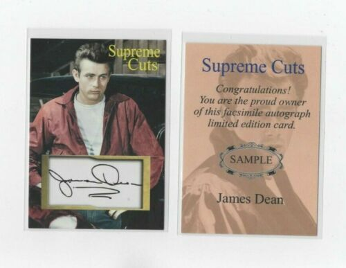 "JAMES DEAN Supreme Cuts 2021 FACSIMILE AUTOGRAPH ""SAMPLE""  GLOSSY"